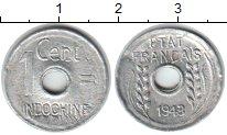 Изображение Монеты Индокитай 1 цент 1943 Алюминий VF