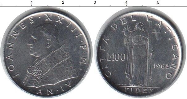 Картинка Монеты Ватикан 100 лир Медно-никель 1962