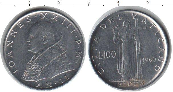Картинка Монеты Ватикан 100 лир Медно-никель 1960