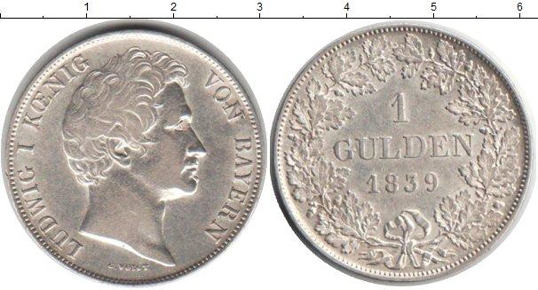 Картинка Монеты Бавария 1 гульден Серебро 1839