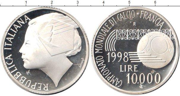 Картинка Монеты Италия 10.000 лир Серебро 1998