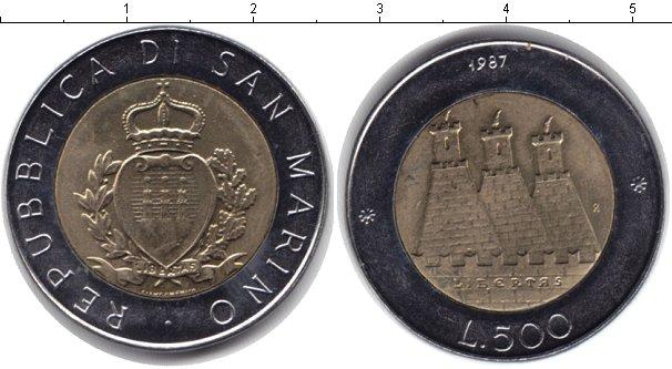 Картинка Монеты Сан-Марино 500 лир Биметалл 1987