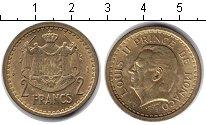Изображение Монеты Монако 2 франка 1945  UNC- Луис II