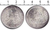 Изображение Монеты Сан-Марино 500 лир 1974 Серебро UNC- Две курицы