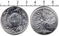 Изображение Монеты Италия 500 лир 1991 Серебро UNC- Флора и Фауна Италии