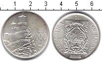 Изображение Монеты Сан-Марино 1000 лир 1988 Серебро UNC- Крепость