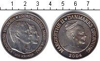 Изображение Монеты Дания 200 крон 2004 Серебро XF Маргарет II. Кронпри