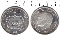 Изображение Монеты Швеция 200 крон 1993 Серебро Proof- Карл XVI Густав. Кор