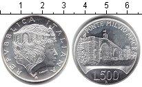 Изображение Монеты Италия 500 лир 1991 Серебро Proof- 2100-й Юбилей Понте