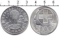 Изображение Монеты Сан-Марино 5000 лир 1998 Серебро UNC-