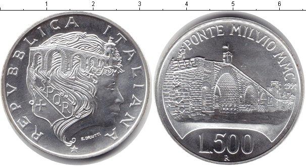 Картинка Монеты Италия 500 лир Серебро 1991
