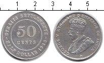 Изображение Монеты Стрейтс-Сеттльмент 50 центов 1920 Серебро VF Георг V