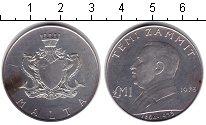 Изображение Монеты Мальта 1 фунт 1973 Серебро XF