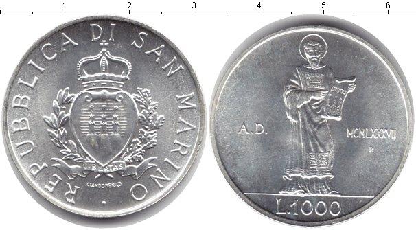 Картинка Монеты Сан-Марино 1.000 лир Серебро 0