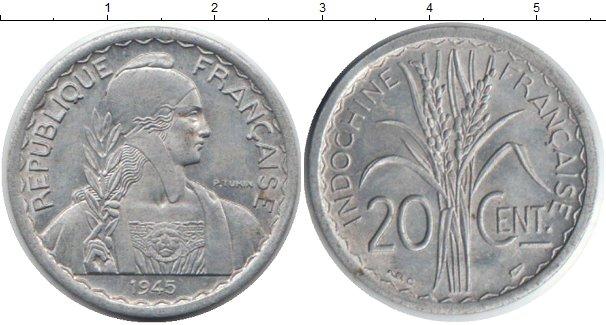 Картинка Монеты Индокитай 20 сантимов Алюминий 1945