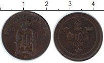 Изображение Монеты Швеция 2 эре 1884 Медь XF