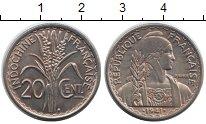 Изображение Монеты Индокитай 20 центов 1941 Медно-никель XF