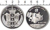 Изображение Монеты Ниуэ 10 долларов 1992 Серебро Proof- Луна 9