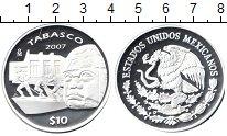 Изображение Монеты Мексика 10 песо 2007 Серебро Proof- Штат Табаско