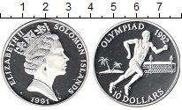 Изображение Монеты Соломоновы острова 10 долларов 1991 Серебро Proof- Елизавета II. Олимпи