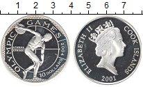 Изображение Монеты Острова Кука 10 долларов 2001 Серебро Proof- Елизавета II. Олимпи
