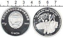 Изображение Монеты Северная Корея 5 вон 2002 Серебро Proof-
