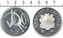 Изображение Монеты Андорра 10 динерс 2007 Серебро Proof- Олимпийский спорт 18