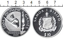 Изображение Монеты Самоа 10 долларов 2003 Серебро Proof-