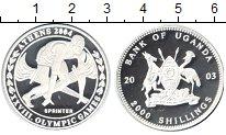 Изображение Монеты Уганда 2000 шиллингов 2003 Серебро Proof- XXVIII Олимпийские и