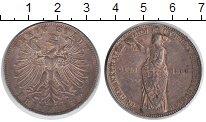 Изображение Монеты Франкфурт 1 талер 1862 Серебро XF Девушка со щитом