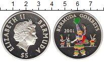 Изображение Монеты Бермудские острова 5 долларов 2001 Серебро Proof-