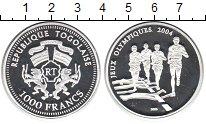 Изображение Монеты Того 1000 франков 2003 Серебро Proof-