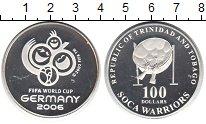 Изображение Монеты Тринидад и Тобаго 100 долларов 2002 Серебро Proof- Чемпионат мира по фу