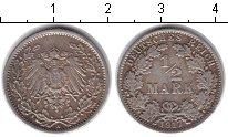 Изображение Монеты Германия 1/2 марки 1917 Серебро XF А
