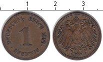 Изображение Монеты Германия 1 пфенниг 1893 Медь XF