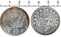 Изображение Монеты Франция 1/4 евро 2004 Серебро Proof- Карта Европы