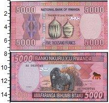 Изображение Банкноты Руанда 5000 франков 0  UNC- Горилла