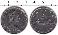Изображение Монеты Канада 1 доллар 1968 Медно-никель XF Елизавета II. Путеше
