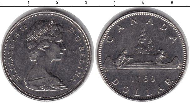 Картинка Монеты Канада 1 доллар Медно-никель 1968