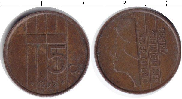 Картинка Барахолка Нидерланды 5 центов Медь 1992