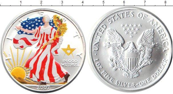 Картинка Монеты США 1 доллар Серебро 2007