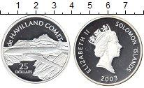 Изображение Монеты Соломоновы острова 25 долларов 2003 Серебро Proof- de HAVILLAND COMET