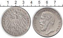 Изображение Монеты Баден 5 марок 1902 Серебро VF Фридрих