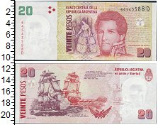 Изображение Банкноты Аргентина 20 песо 0  UNC Портрет Генерала Х.М