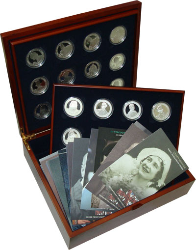 Изображение Подарочные монеты Великобритания Великие люди Британии 0 Серебро Proof