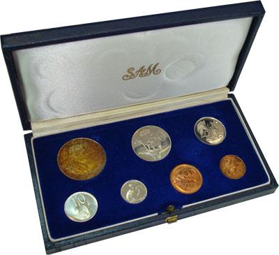 Изображение Подарочные монеты ЮАР ЮАР 1967 1967  UNC- `Представляем Вашему