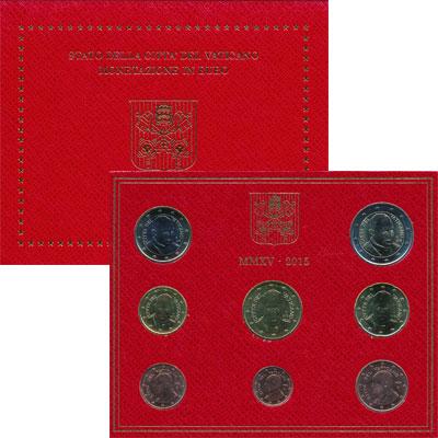 Изображение Подарочные монеты Ватикан Евронабор 2015  UNC