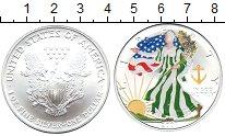 Изображение Монеты США 1 доллар 2007 Серебро UNC- Шагающая  Свобода