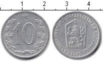 Изображение Дешевые монеты Чехословакия 10 хеллеров 1965