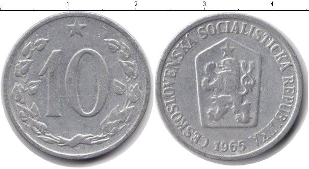 Картинка Дешевые монеты Чехословакия 10 хеллеров  1965